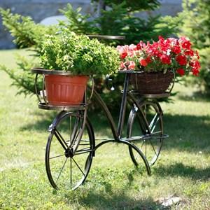 Подставка велосипед садовая