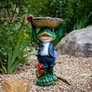 Поилка лягушка в шляпе - фото 61114