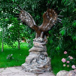 Фонтан Орел на камне большой - фото 61124