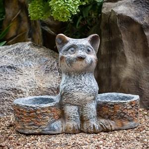 Кашпо двойное кошка - фото 61128