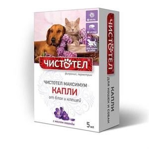 Капли ЧИСТОТЕЛ МАКСИМУМ от блох для кошек и собак