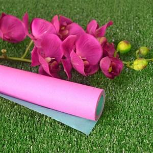 Бумага крафт гладкая 70см двухсторонняя фуксия/зеленый