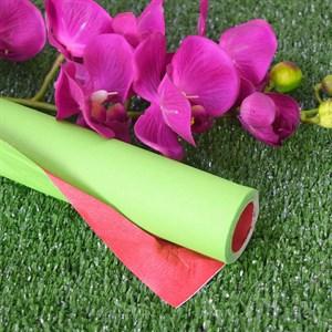 Бумага крафт гладкая 70см двухсторонняя красный/салатовый