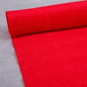 Бумага гофрированная простая светло-вишневая 140гр 982