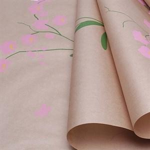 Бумага крафт 40гр 70*10 Орхидея розовый