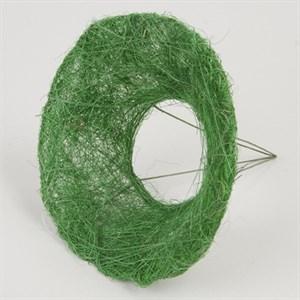 Каркас для букета 15 см сизаль гладкий зеленый