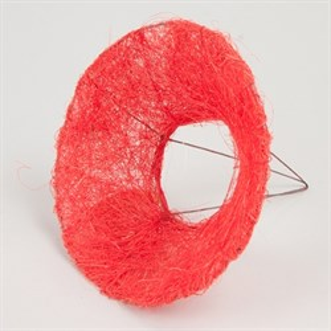 Каркас для букета 15 см сизаль гладкий красный