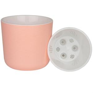 Горшок Лион 5,6л розовый-белый с вкладышем