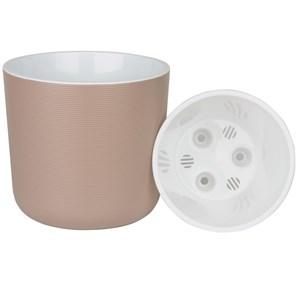 Горшок Лион 5,6л фраппе-белый с вкладышем