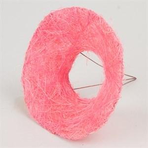 Каркас для букета 15 см сизаль гладкий розовый