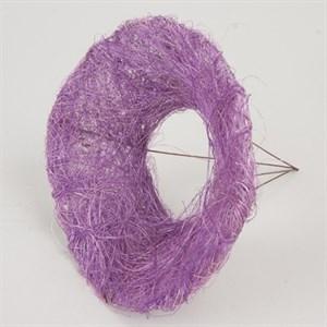 Каркас для букета 15 см сизаль гладкий фиолетовый