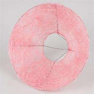 Каркас для букета 25 см сизаль гладкий светло-розовый