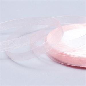 Лента Органза 10мм*30м кремо-розовая
