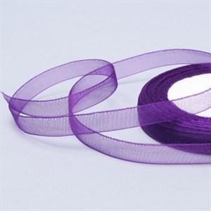 Лента Органза 10мм*30м фиолетовая