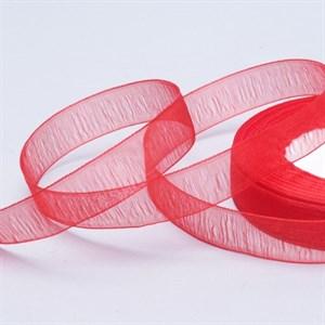 Лента Органза 15мм*30 м красная