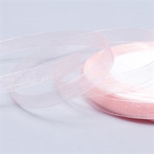 Лента Органза 15мм*30 м кремо-розовая