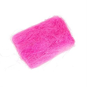 Сизалевое волокно 40гр ярко-розовое