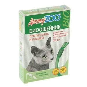 БИОошейник ДОКТОР ЗОО  от блох для кошек и мелких собак