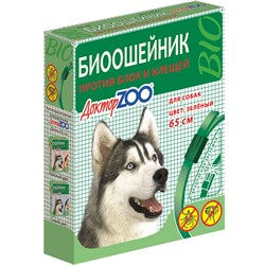БИОошейник ДОКТОР ЗОО  от блох для собак  зеленый