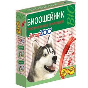 БИОошейник ДОКТОР ЗОО  от блох для собак  красный