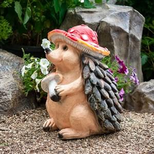 Фигура Еж в шляпе гриба - фото 62575