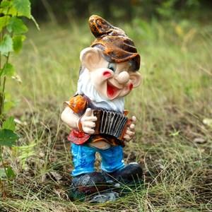 Фигура Гном с гармонью - фото 62769