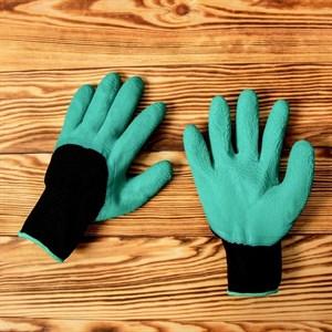 Перчатки махровые с покрытием из вспенен.латекса - фото 63078