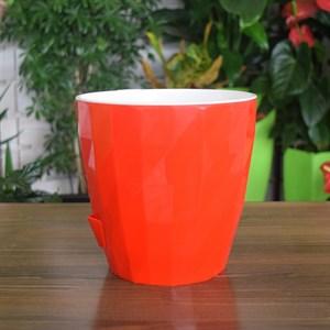 Кашпо Соло Руби d16,5 h16см 3л красный