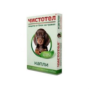 Капли ЧИСТОТЕЛ БИО от блох для мелких собак 1доза