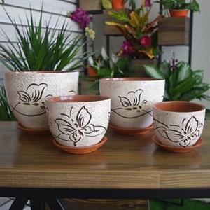 Горшки для цветов БАБОЧКА №3