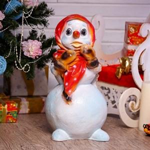 Фигура Снеговик девочка F07054