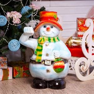 Фигура Снеговик с фонарем