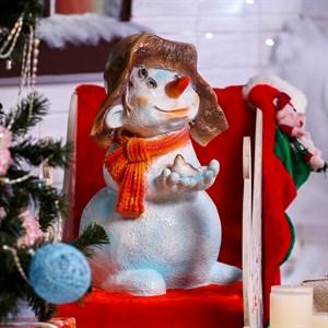 Фигура Снеговик с птичкой