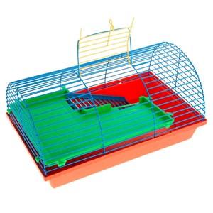 Клетка ГРИЗЛИ для грызунов 2-х этаж полукруглая 112ж