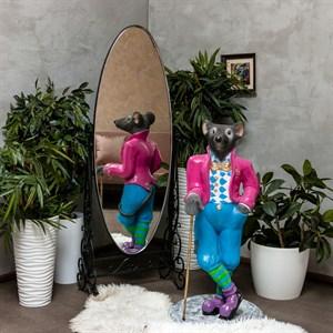Фигура Крыса в костюме с тростью