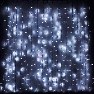 Светодиодная гирлянда штора 320 ЛЭД 3*2 белая