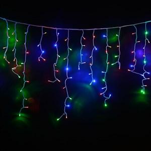 Светодиодная гирлянда штора-бахрома 160 ЛЭД 3*0,5 цветная