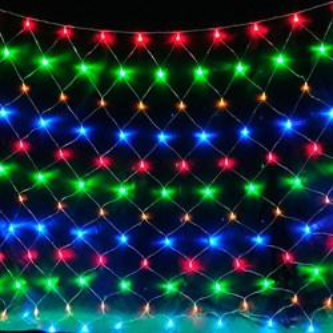 Светодиодная гирлянда-сетка 320 ЛЭД 3*2 разноцветная