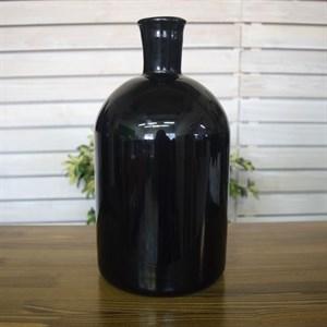 Ваза бутылка 1141 черный глянец