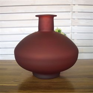 Ваза бутылка 1700 красный матовый