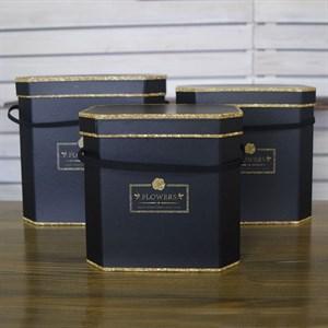 Набор коробок Квин майл бокс 23,5*21,5*19,5 3шт черный