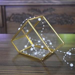 Флорариум 15*7.8*10.5см золотой - фото 68896