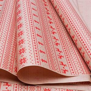 Бумага крафт 70*10 Орнамент красный