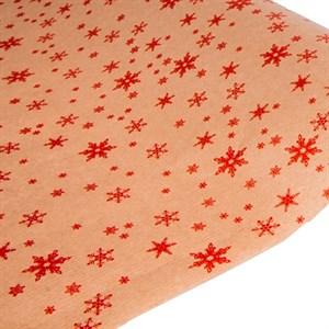 Бумага крафт 70*10 Снежинка красный