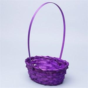 Корзина плетеная бамбук 20*16*9см фиолетовый