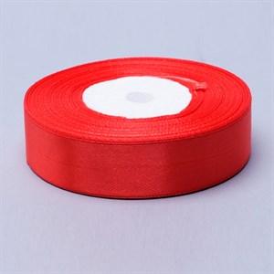 Лента атлас 20мм x 30 м красная