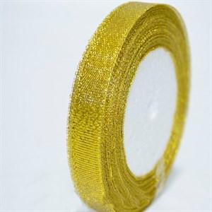Лента парча 9мм*22м золото