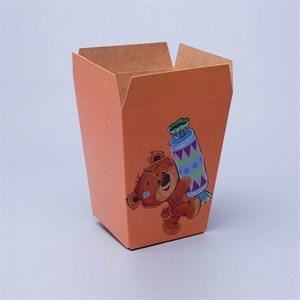 Плайм пакет для цветов 150*120/90 Мишки с конфетой