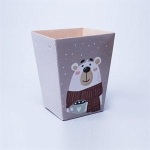 Плайм пакет для цветов 220*175/125 Белый медведь