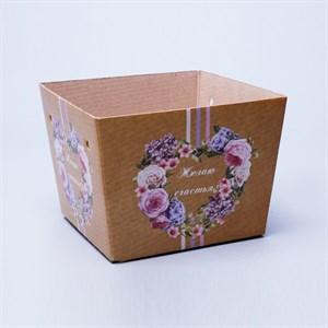Плайм пакет для цветов Желаю счастья 110*150/125 Сердце